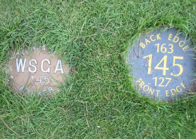 Reedsburg Country Club Hole 3 Yardage Plates