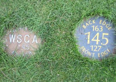 Reedsburg Country Club Hole 3 Yardage Plates