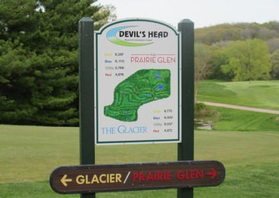 Devil's Head Resort Golf Sign