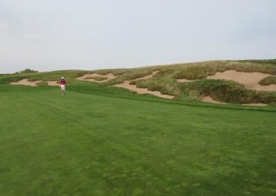 Erin Hills Golf Course Hole 10 Fairway Bunkers