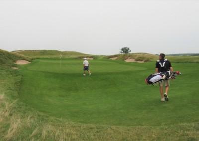 Erin Hills Golf Course Hole 16 Green Entrance