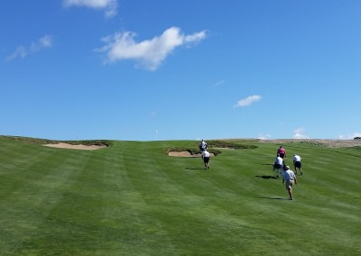 Erin Hills Golf Course Hole 8 Incline