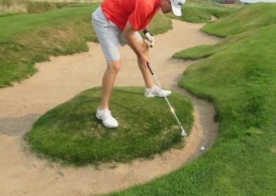 Erin Hills Golf Course Hole 9 Greenside Bunker