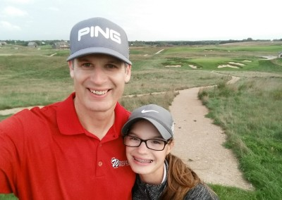 Erin Hills Golf Course Hole 9 Selfie
