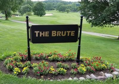 Grand Geneva Brute Course Hole 1 Sign