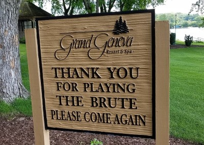 Grand Geneva Brute Course Hole 18 Thank You