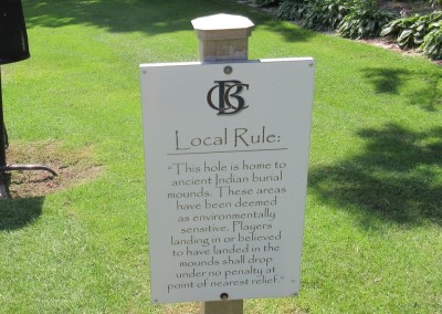 Baraboo Country Club Hole 6 Sign