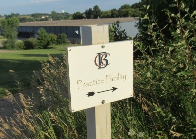 Baraboo Country Club Practice Facility Sign