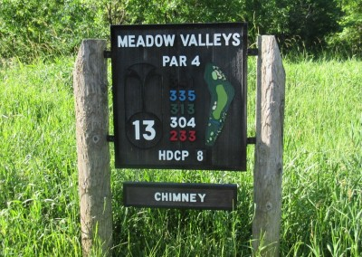 Blackwolf Run Meadow Valleys Course Hole 13 Sign