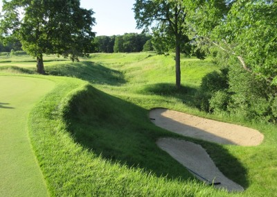 Blackwolf Run Meadow Valleys Course Hole 17 Bunkers