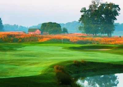 Blackwolf Run Meadow Valleys Golf Course Hole 1 Fishing Hole Tee