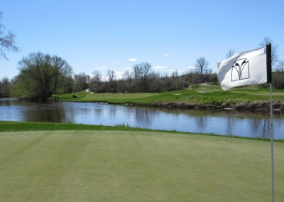 Blackwolf Run Meadow Valleys Spring Hole 18 Flag
