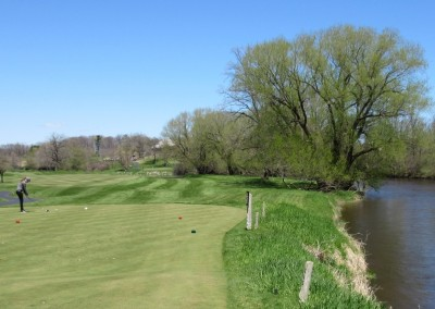 Blackwolf Run Meadow Valleys Spring Hole 18 Tee