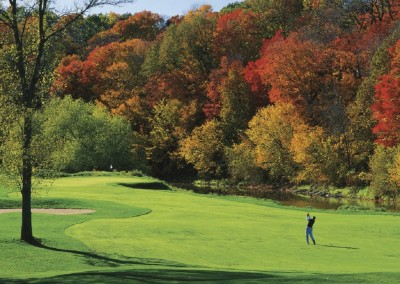 Blackwolf Run River Golf Course Hole 11 Rise and Fall Approach