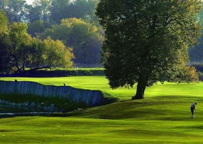 Blackwolf Run River Golf Course Hole 16 Unter Der Linden Approach