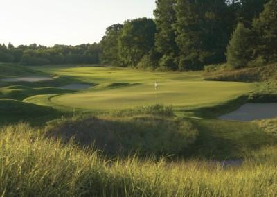 Blackwolf Run River Golf Course Hole 2 Burial Mounds Green