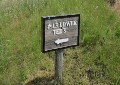 Whistling Straits Irish Course Hole 13 Lower Tee Sign
