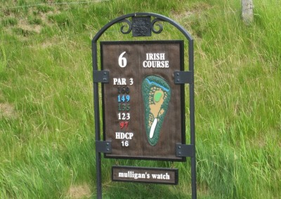 Whistling Straits Irish Course Hole 6 Sign
