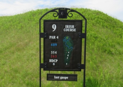 Whistling Straits Irish Course Hole 9 Sign