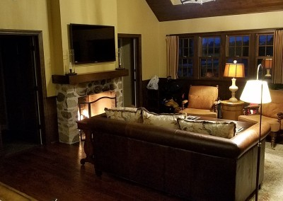 EHGE 2017 Erin Hills Ballybunion Cottage Bedroom Living Room 1