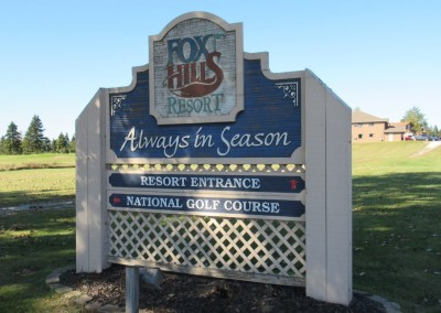 Fox Hills Resort Entrance Sign