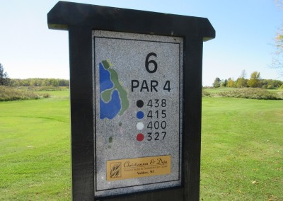 Fox Hills Resort The National Course Hole 6 Sign