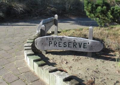 Bandon Preserve Sign