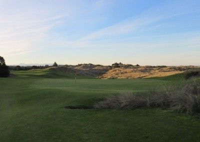 Bandon Trails Hole 18 Green Morning View