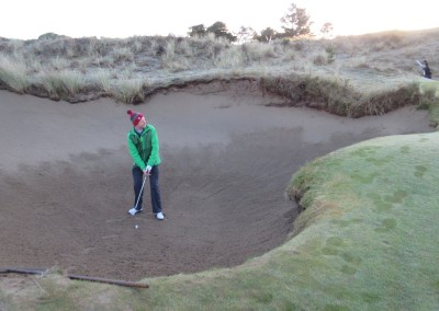 Pacific Dunes Hole 1 Greenside Bunker