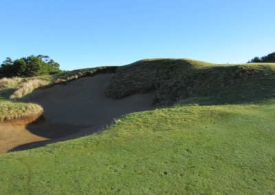 Pacific Dunes Hole 6 Greenside Bunker