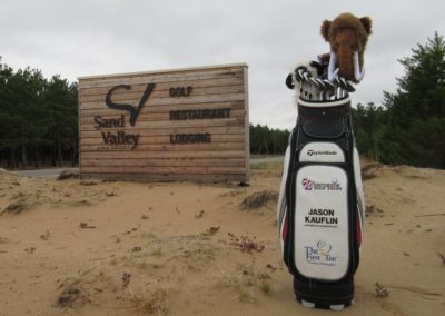 Sand Valley Golf Resort Entrance With Bag