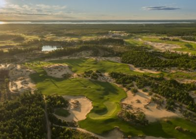 Sand Valley Resort Mammoth Dunes Golf Course Front Nine Aerial