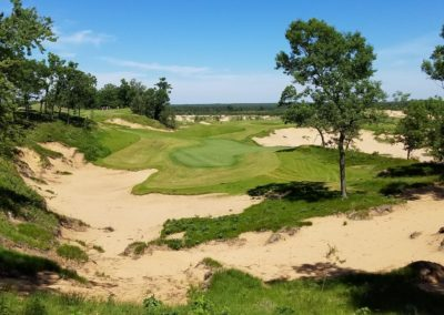 Sand Valley Resort Mammoth Dunes Golf Course Hole 13 JK Aerial