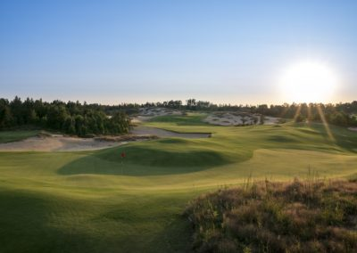 Sand Valley Resort Mammoth Dunes Golf Course Hole 6 Green STOCK