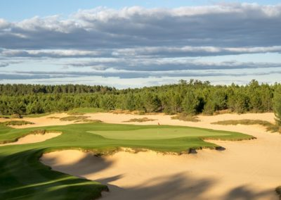 Sand Valley Resort Mammoth Dunes Golf Course Hole 8 Par 3 Tee STOCK