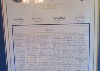 Whistling Straits - Champions Locker Room Signatures