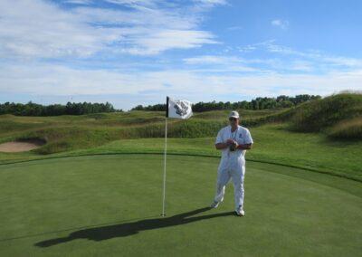 Whistling Straits Irish Course Hole 1 Flag