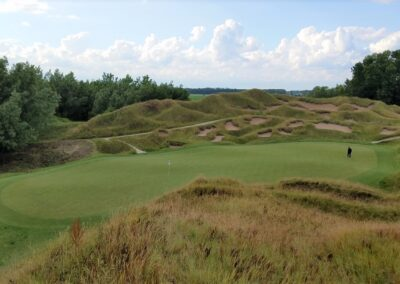 Whistling Straits Irish Course Hole 13 Green Elevated View