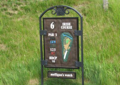 Whistling Straits Irish Course Hole 6 Sign