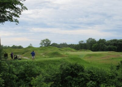 Whistling Straits Irish Course Hole 8 Back Tee View