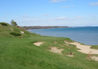 Whistling Straits - Straits Course Hole 13 Cliff Hanger Approach