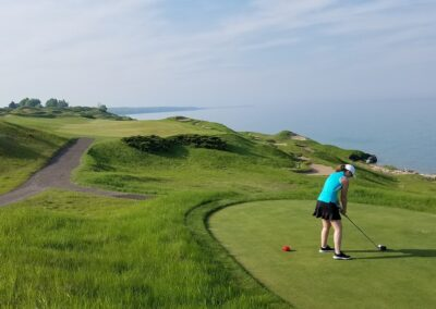 Whistling Straits - Straits Course Hole 13 Forward Tee Cindy K