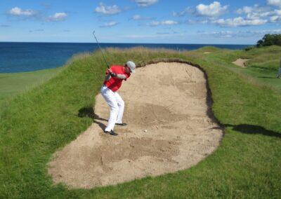 Whistling Straits - Straits Course Hole 17 Bunker Jason Kauflin