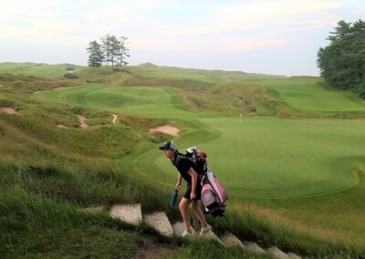 Whistling Straits - Straits Course Hole 18 Green Stairs