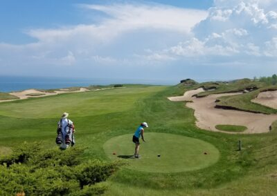 Whistling Straits - Straits Course Hole 2 Forward Tee Cindy K