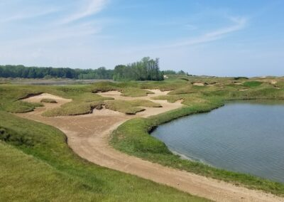 Whistling Straits - Straits Course Hole 5 Corner Bunkers