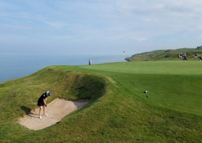 Whistling Straits - Straits Course Hole 8 Greenside Bunker