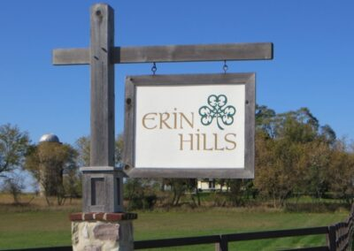 Erin Hills Golf Course Clubhouse Sign