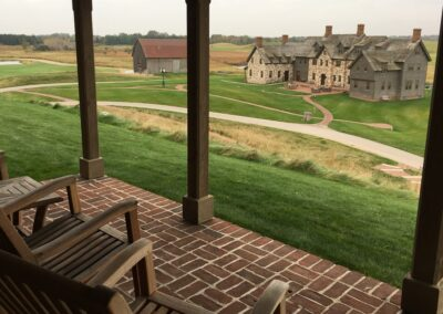 Erin Hills Golf Course Cottage Ballybunion Patio View