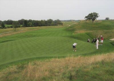 Erin Hills Golf Course Hole 15 Green View